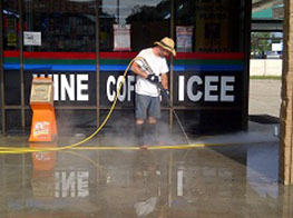 convenience store pressure washing summerwood